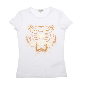 317eb557 NWT KENZO KIDS T-shirt BLANC TIGER Print White Tee Women Youth ...