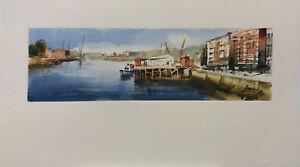 Acuarela * watercolor * Erandio, ría * Pintura original