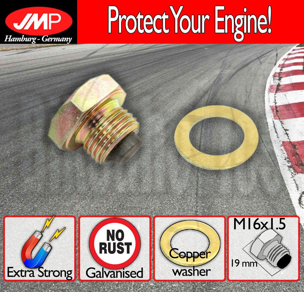 JMP magnetic oil sump drain plug /& washer M12 x 1.5mm bolt screw bung sumidero