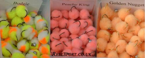 G Nuggett Peachy King 6 Genuine Tinhead Egg flies not gold bead copies.Budgie