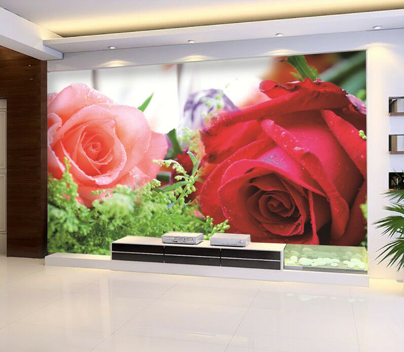3D 3D 3D Rose Bloom 53 Wallpaper Murals Wall Print Wallpaper Mural AJ WALL AU Kyra 1fa6f1