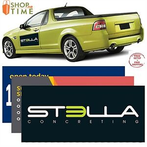 Custom Car Sign Magnet 12 X 24 30 Mil Printed With Your Logo