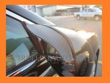 Black Carbon Fiber Mirror Rain Shade Guard Visor Visors 2 Piece For DODGE