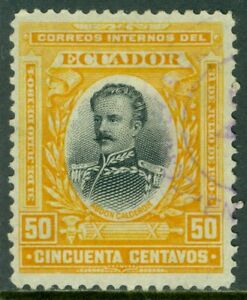EDW1949SELL-ECUADOR-1904-Scott-165-Very-Fine-Used-Nice-stamp-Catalog-120