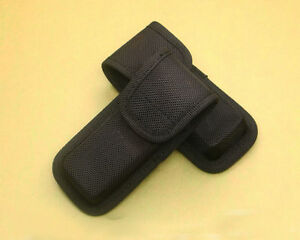Black-Nylon-Sheath-For-Folding-Pocket-Rescue-Knife-Pouch-Case-Closure-Gift-NEW