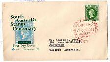 Australia 1955 South Australia Stamp Centenary FDC Anpex Cancel X3963