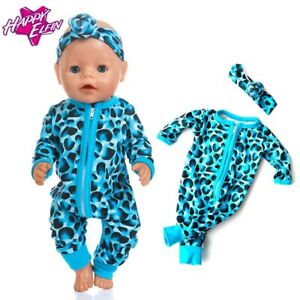 Baby Doll 17inch Born Babies Doll Clothes Jumpsuits Fit For 43cm Zapf Born