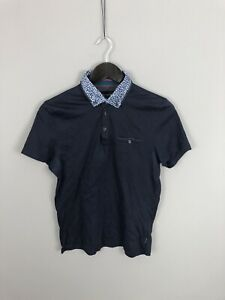 TED-BAKER-Polo-Shirt-Size-2-Small-Navy-Great-Condition-Men-s