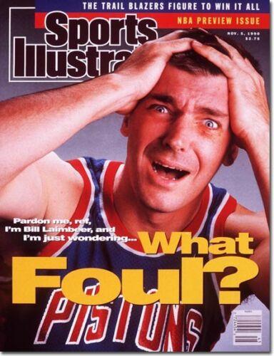 1990 Bill Laimbeer Detroit Pistons Sports Illustrated November 5
