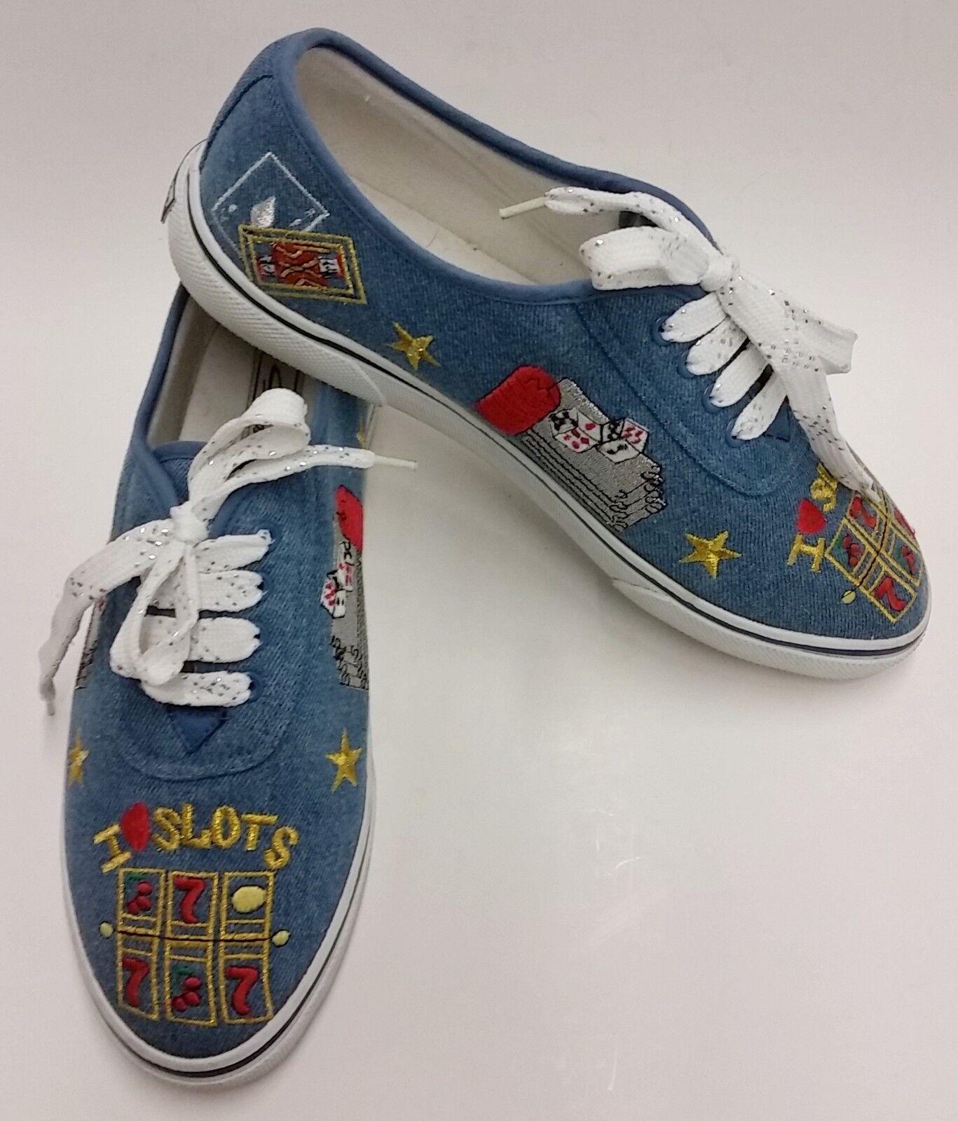 Slots Casino Sebastiso shoes Sneakers bluee Multi-color Womens Size 9 M