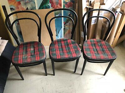 3 Thonet Stühlel Model 214p Gebraucht Aus 1970