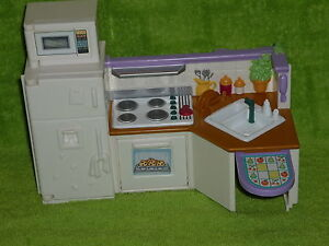 Image Is Loading Fisher Price Loving Family Dollhouse Kitchen Unit Oven