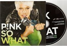 PINK so what CD SINGLE card sleeve