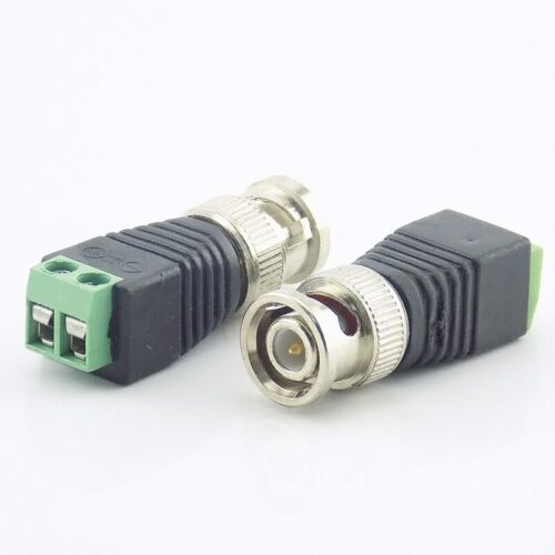 2 10pcs BNC Male Connector Coax CAT5 Coaxial power plug Cable for Camera Adapter