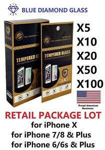 Lot-10-20-50-Tempered-GLASS-Screen-Protector-for-Apple-iPhone-w-Retail-Package