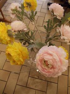 SIA fleurs artificielles : Tige de RENONCULE jaune | eBay