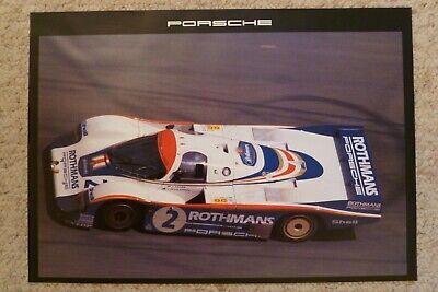 Porsche Factory 1982 956-C Coupe Collector Card Postcard RARE! Awesome L@@K