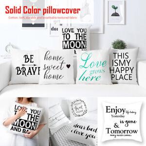 Details About Modern Letter Printed Cushion Cover Throw Pillowcase Home Sofa Waist Decor Us