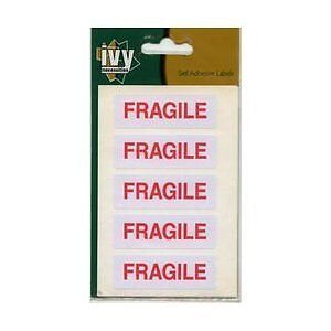 FRAGILE Stickers 19mm x 63mm Self Adhesive Sticky Labels Ivy 35 Stickers