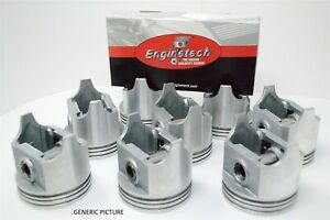 69-70-71-72-73-74-75-76-Ford-Mercury-5-8L-351W-V8-8-Pistons-and-Cast-Ring-Set