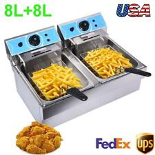 4000w 16l Electric Deep Fryer Commercial Countertop Basket French Fry Restaurant