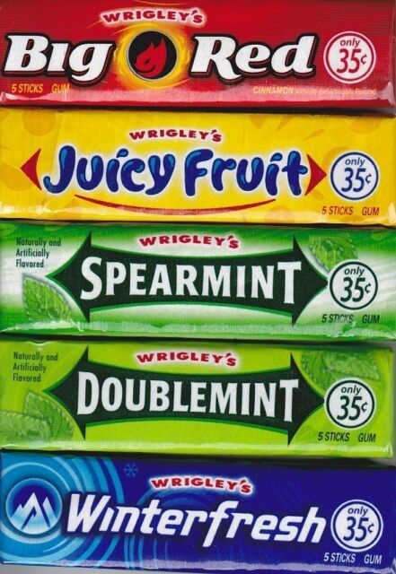 Wrigley's Chewing Gum 5 Packs - Choose The Flavor