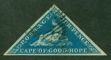 SG 2 Cape of Good Hope 4d on deeply blued paper. Fine used. Full large margins..