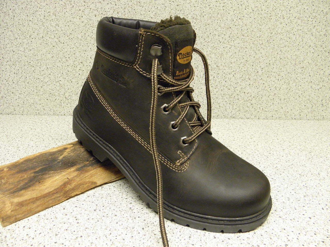 Dockers ®  SALE  braun Leder   + gratis Premium - Socken (A912)