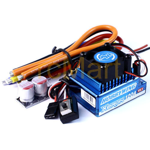 Hobbywing XERUN 120A SD Brushless ESC 1:10 1:12 RC Car On Road  120A-SD V2.1BU