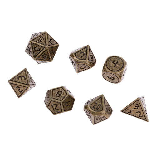 7Pcs/Set Dungeons and Dragons DND RPG MTG Table Games Polyhedral Dice 04