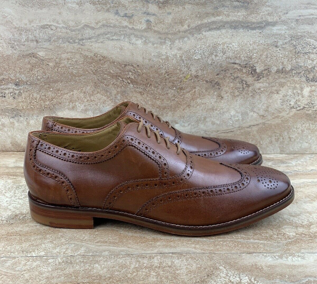 Cole Haan 'Cambridge' Wingtip Oxfords British Tan Men's shoes