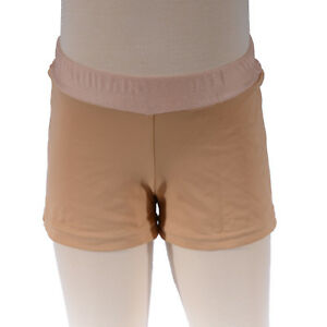 Girls-Size-6-Beige-Tan-Bike-Shorts-Girl-039-s-Active-Dance-Gym-Running-Swim-Wear