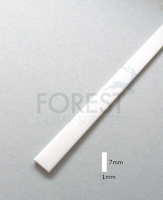 Guitar Binding material white ABS plastic 7 x 1mm