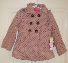8944574a50b7 Pink Platinum Newborn Girls Infant Polka Dot Active Hooded Jacket ...