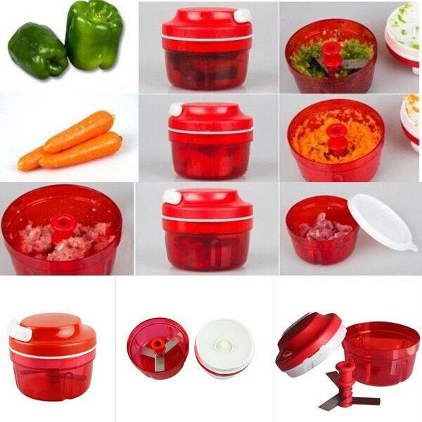 Food Fruit Nut Vegetable Chopper Kitchen Hand Speedy Multi-use Chopper Shredder