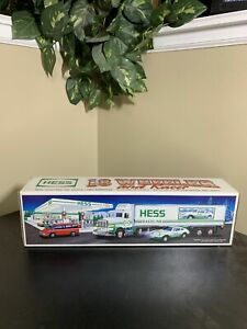 Hess Truck 18 Wheeler And Racer In Original Box From 1992