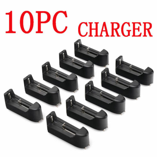 10PCS Multiple Smart Charger For 18650 16340 14500 10440 Rechargeable Battery US