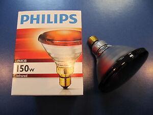 Philips-PAR38-IR-Red-150W-230V-E27-Infrarotlampe-Waermelampe-Infrarot-Strahler