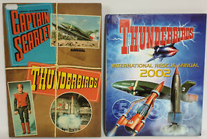 CAPTAIN-SCARLET-amp-THUNDERBIRDS-1969-amp-2002-ANNUALS-OLD-SHOP-STOCK
