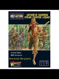 28mm-Warlord-Japanese-Bamboo-Spear-Fighting-Squad-BNIB-WWII-Bolt-Action