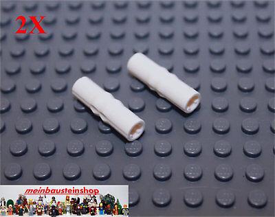 LEGO Technic 20x Verbinder m Pin lang schwarz 3L m Stopper Connector 32054
