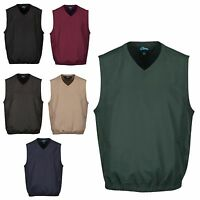 MEN'S WATER RESISTANT & WIND PROOF VEST, V NECK, POCKETS, S-L XL 2X 3X 4X 5X 6X