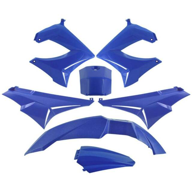 Set 7 Piezas Carenado Azul Derbi 50 Senda Sm 2000-2005