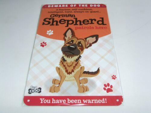 WAGS /& MOUSTACHES Méfiez-vous du chat ou chien porte métallique signe