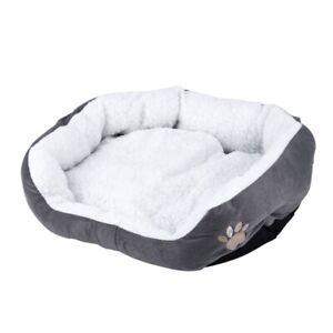 50x40cm Warm Lavable Lit Couchage Toison Panier avec Coussin Pour Puppy Chien T2