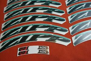 ZIPP 404 2013 STYLE BLACK /& WHITE OUT  REPLACEMENT  RIM DECAL SET FOR 2 RIMS