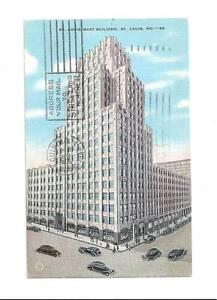ST-LOUIS-MO-Mart-Building-Vtg-1944-Missouri-Postcard