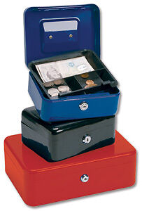 CASH BOX 8 Inch W160xD200xH90mm  RED  Steel PETTY CASH