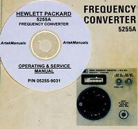 Hp Hewlett Packard 5255a, Frequency Converter Operating & Service Manual