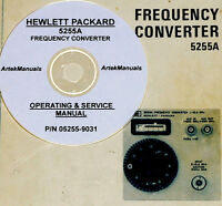 Hp Hewlett Packard 5255a, Frequency Converter Operating & Service Manual